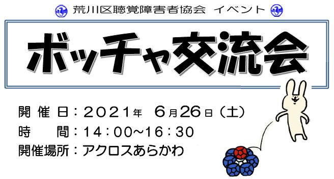 ボッチャ交流会 6/26(土)